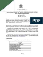 Convocação Dos Candidatos Aprovados (COM RESERVA)(ERRATA)