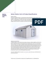 Better-Shelter 1.0 Specification