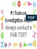 1 science investigation rule