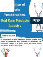 Production of Plastic Toothbrushes