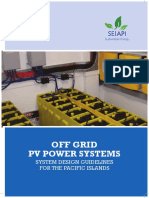 Off Grid Pv Systems Design Guidelines