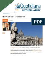 "Nuova ""Chiesa"" e Abusi Sessuali"
