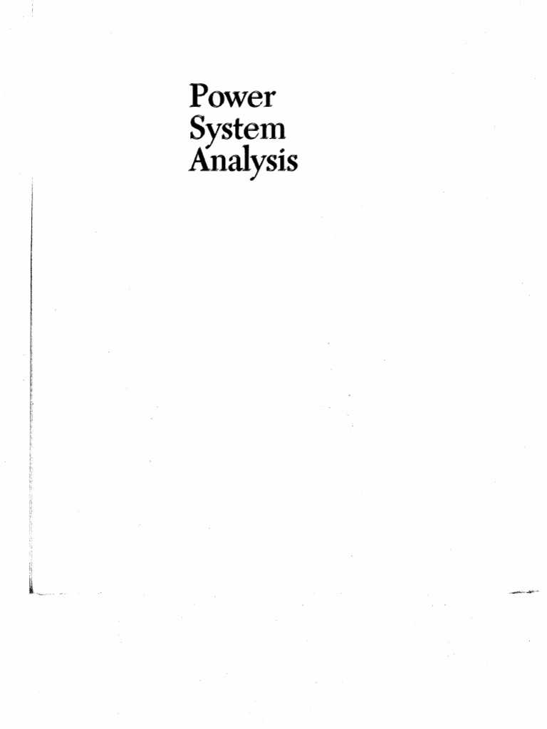 Power System Analysis Hadi Saadat Pdf