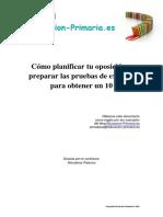 Como planificar tu oposición y preparar las pruebas de examen para obtener un 10.pdf
