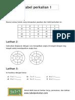 tabel perkalian 1