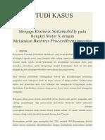 Contoh Studi Kasus Bengkel Motor