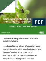 'Classical weed biocontrol
