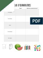 bag problem worksheet copy