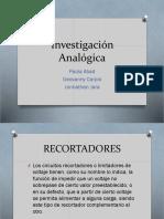 Investigación Analógica Final