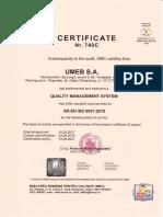 UMEB Certifications