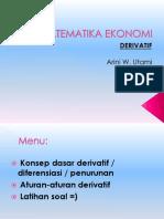 1-Matematika Ekonomi - Derivatif 29apr12