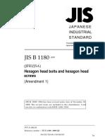 JIS B 1180 AMD 1-2009