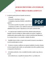 Reguli PSI - Ateliere Lemn