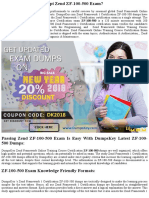 Want To Pass ZF-100-500 Exam Dumps In First Attempt