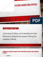Differentiating Marketing Offers