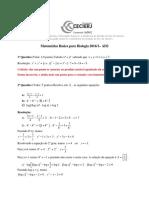 Matematica Gabarito AP1 2016.2