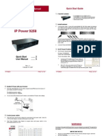 IP Power 9258 9258T Remote Power Strip Manual
