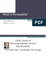 Second Class What is Personality