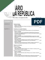 Sumario de Diario Da Republica 147 Serie II de Terca Feira 2 de Agosto de 2011
