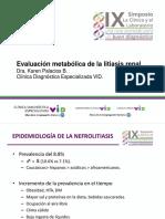 Evaluación Metabólica de La Litiasis Renal