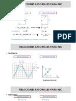 Circuito Corriente Alterna - Relaciones Fasoriales RLC