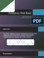 Polímeros vinil ésteres