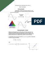 Interpolacao Linear - Modulo de Elasticidade