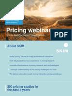 SKIM October 2015 Pricing Webinar