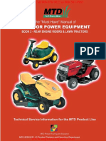 770 10579 the Must Have Manual of Outdoor Power Equipment Book 2 Rear Engine Riders and Lawn Tractors