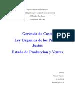 Costo, Ley, Estado de Produccion 1
