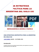 UNA ESTRATEGIA GEOPOLÍTICA PARA LA ARGENTINA DEL SIGLO XXI - por Juan Gabriel Labaké