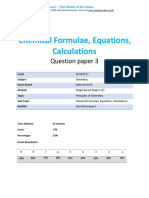 5.3 - Chemical Formulae Equations Calculations 2c - Edexcel Igcse 9-1 Chemistry Qp