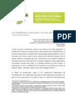 Gestion Cultural la accesibilidad
