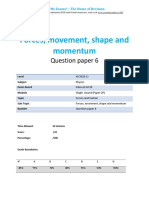 3.6- Forces Movement Shape and Momentum 2p - Edexcel Igcse Physics Qp