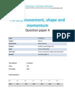 3.4- Forces Movement Shape and Momentum 1p - Edexcel Igcse Physics Qp