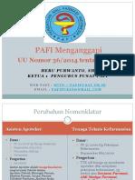 PAFI Dalam Menanggapi UU Nakes, Makassar Nov 2014 (Heru Purwanto)