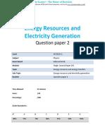15.2 - Energy Resources and Electricity Generation 2p - Edexcel Igcse Physics Qp