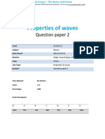 9.2 - Properties of Waves 2p - Edexcel Igcse Physics Qp