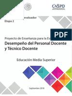 Proyecto de enseñanza para la evaluación de Media Supeior