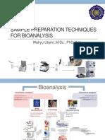 (4) Sample Preparation for Bioanalysis