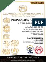 Proposal Permohonan Dana Kegiatan AWMUN 2019