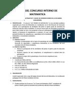 Bases Del Concurso Interno de Matematica