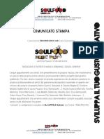 Comunicato Stampa Soulfood Music Fest