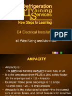 e4 subject2 wire sizing and materials