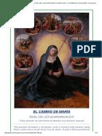 El Camino de Maria . Edicion 1198. La Exaltacion de La Santa Cruz . La Virgen de Los Dolores. Toda Situación de Sufrimiento Es También Una Situación Pascual