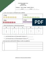 CLASE 1 Guia de Trabajo Fraccion, Numerador, Denominador, Partes Iguales