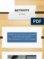 Speech Style Activity Edited