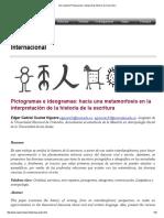 Arte Rupestre Pictogramas e Ideogramas Historia de La Escritura