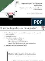 Noções de Indicadores Operacionais, De Processo Ou de Desempenho