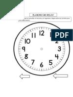 Plantilla Reloj Grande Imprimir